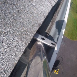 Water fed pole cleaning of gutters