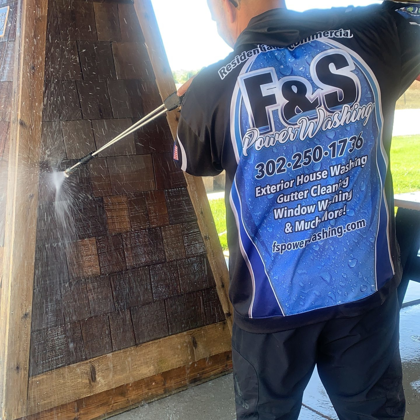 The F&S PowerWashing team uses the most advanced pressure-washing systems to eliminate the most common pollutants from wooden surfaces. Our team is insured, bonded, and experienced to handle every washing session with guaranteed quality. We continuously develop our processes to ensure that homeowners receive the most cost-effective and environmentally friendly cleaning solution for their precious woodwork.