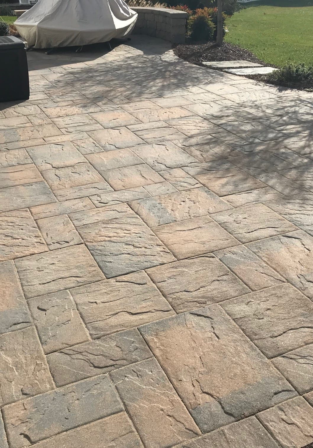 Stamped Concrete POwer Washing
